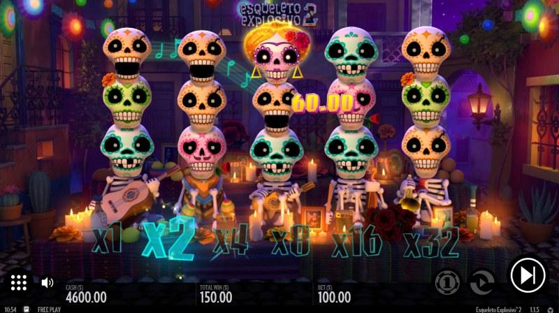 Esqueleto Explosivo 2 :: Multiple winning combinations
