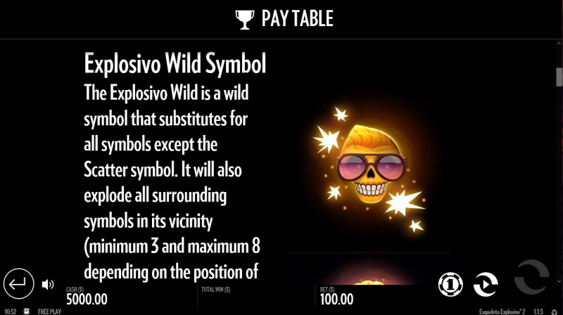 Esqueleto Explosivo 2 :: Wild Symbols Rules