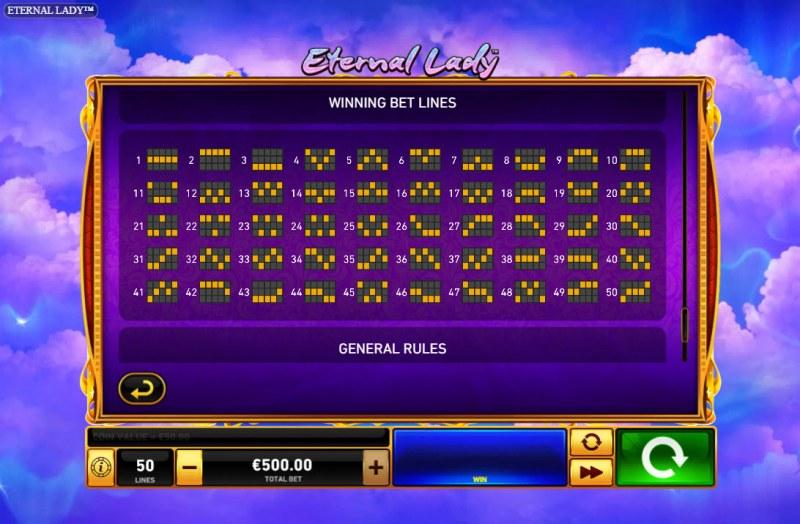 Eternal Lady :: Paylines 1-50