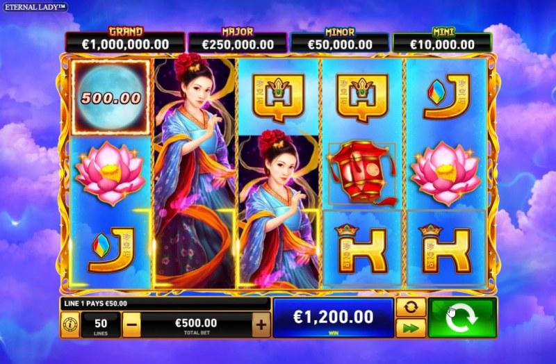 Eternal Lady :: Multiple winning paylines