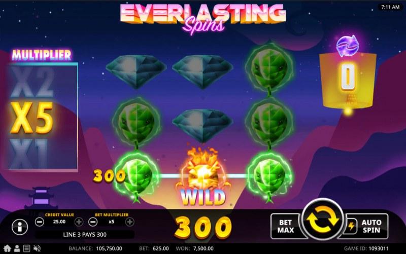 Everlasting Spins :: X5 Win Multiplier