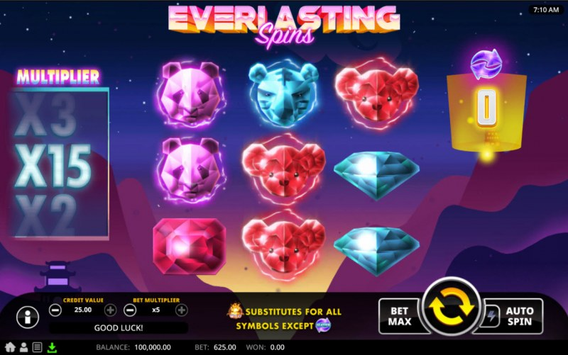 Everlasting Spins :: Base Game Screen
