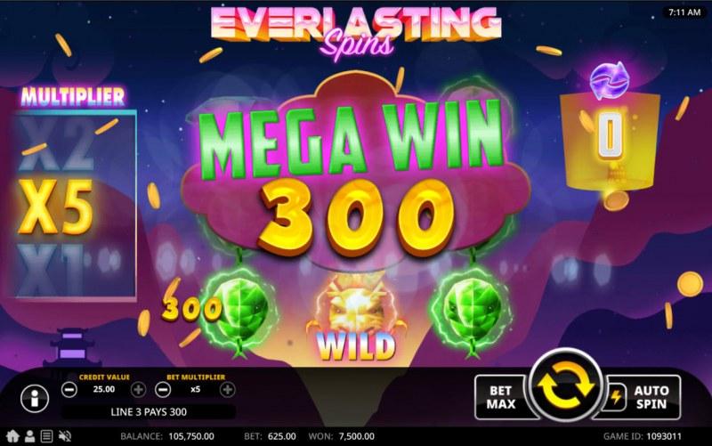 Everlasting Spins :: Mega Win