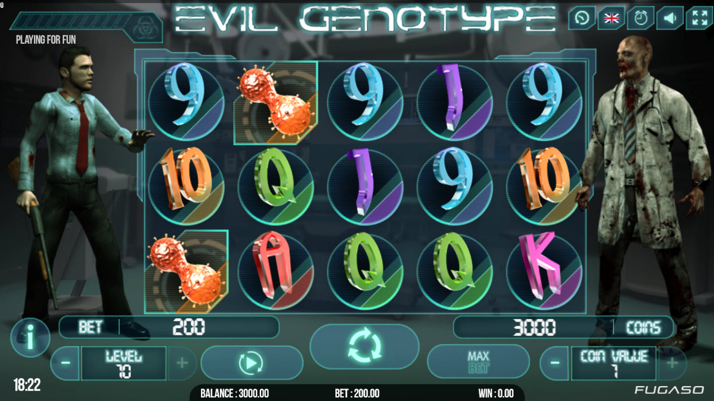 Play slots at Bet Shah: Bet Shah featuring the Video Slots Evil Genotype with a maximum payout of $75,000