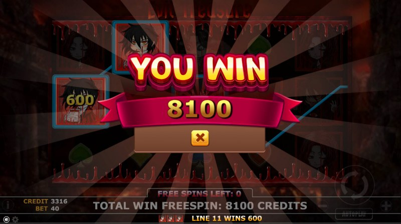 Evil Treasure :: Total free spins payout