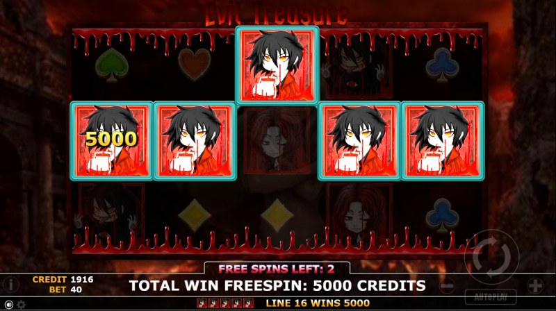 Evil Treasure :: Free Spins Game Board