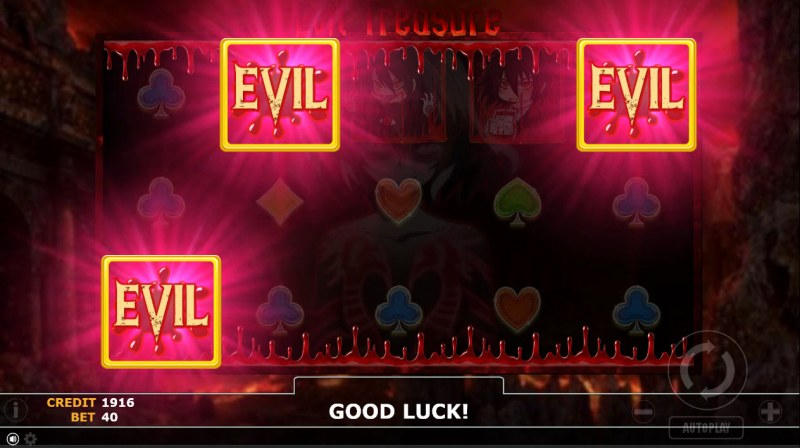 Evil Treasure :: Scatter symbols triggers the free spins feature