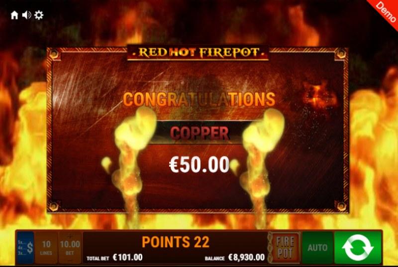 Explodiac Red Hot Firepot :: Total bonus payout