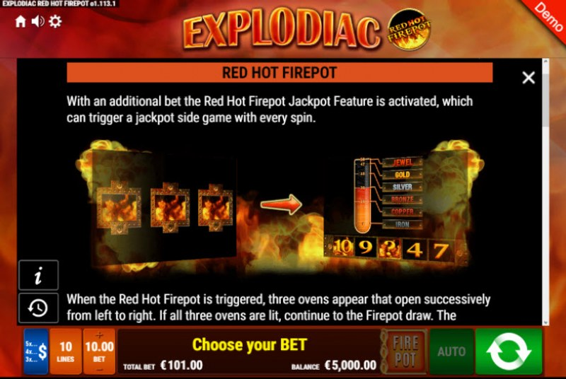 Explodiac Red Hot Firepot :: Red Hot Firepot