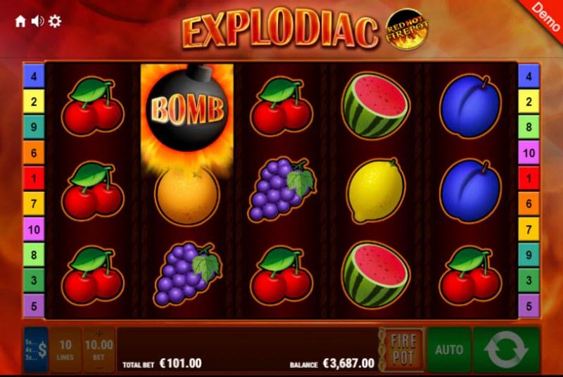 Explodiac Red Hot Firepot :: Wild feature triggered