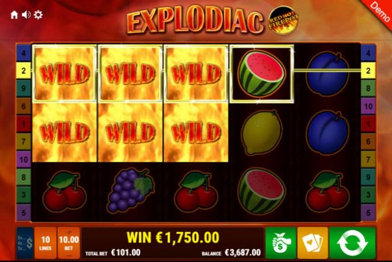 Explodiac Red Hot Firepot :: Multiple winning paylines