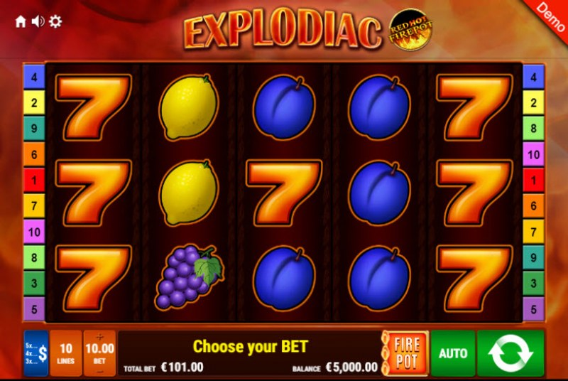Explodiac Red Hot Firepot :: Main Game Board