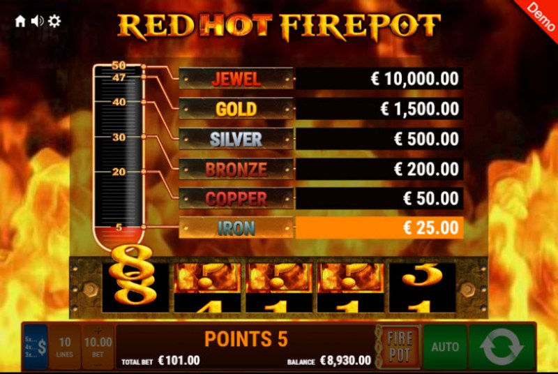 Explodiac Red Hot Firepot :: Collect points for a chance to win big