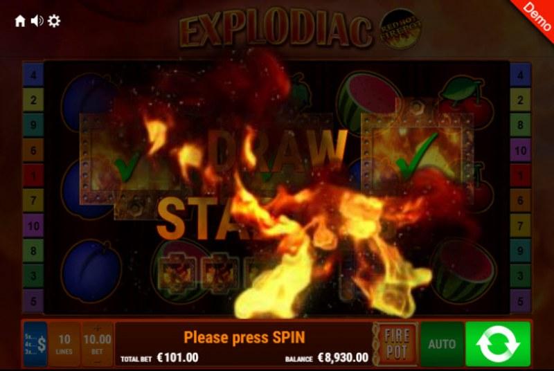 Explodiac Red Hot Firepot :: Red Hot Firepot triggered