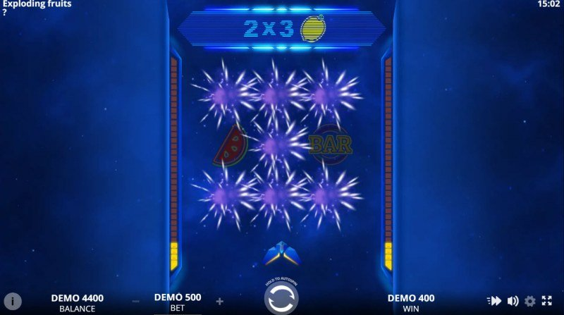 Exploding Fruits :: Winning symbols are removed from the reels and new symbols drop in place