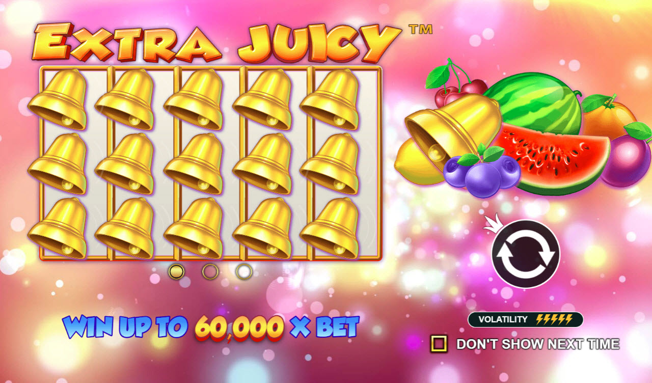 Play slots at Spiral: Spiral featuring the Video Slots Extra Juicy with a maximum payout of $60,000