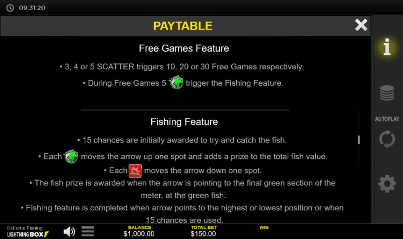 Extreme Fishing :: Feature Rules