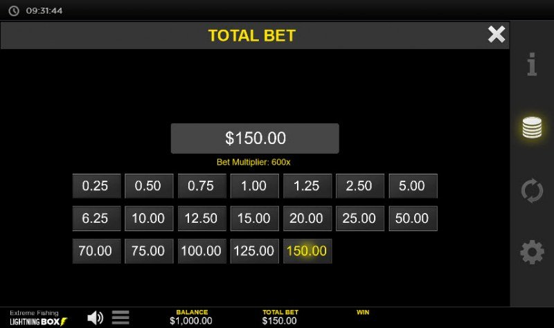Extreme Fishing :: Available Betting Options