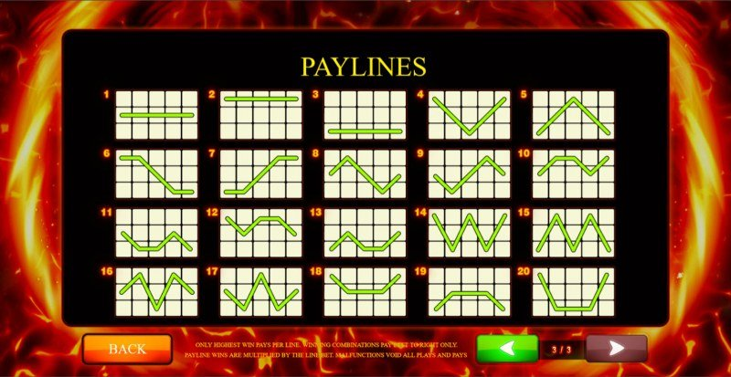 Extreme Fruits Ultimate :: Paylines 1-20
