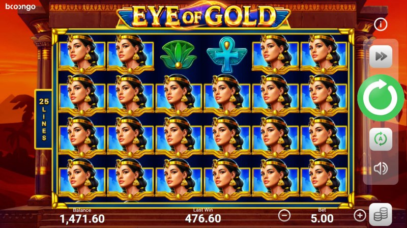 Eye of Gold :: Multiple winning combinations lead to a big win