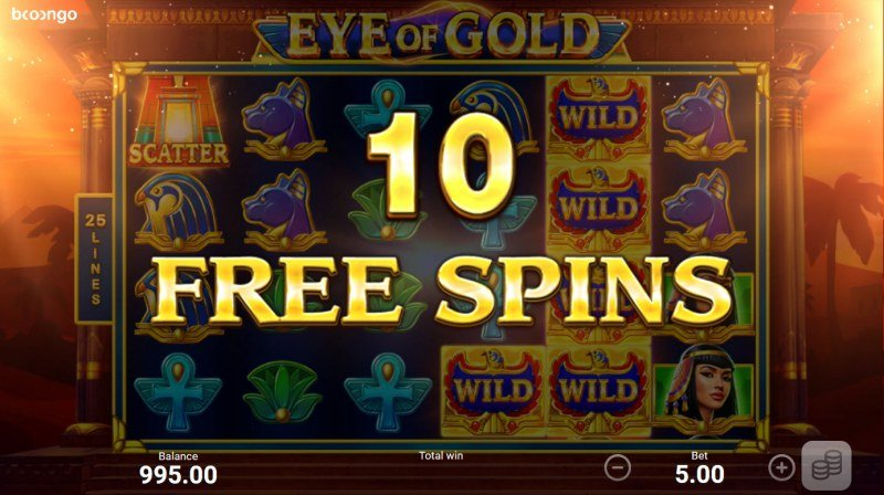 Eye of Gold :: 10 free spins awarded