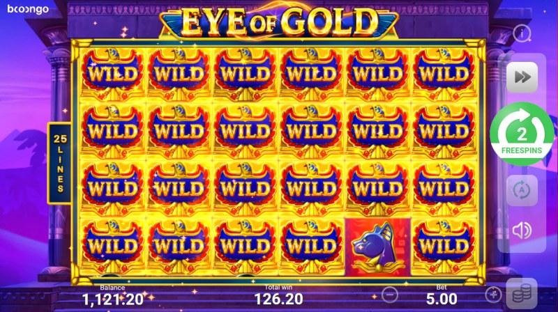 Eye of Gold :: Multiple winning paylines