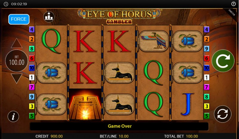 Eye of Horus Gambler :: Main Game Board