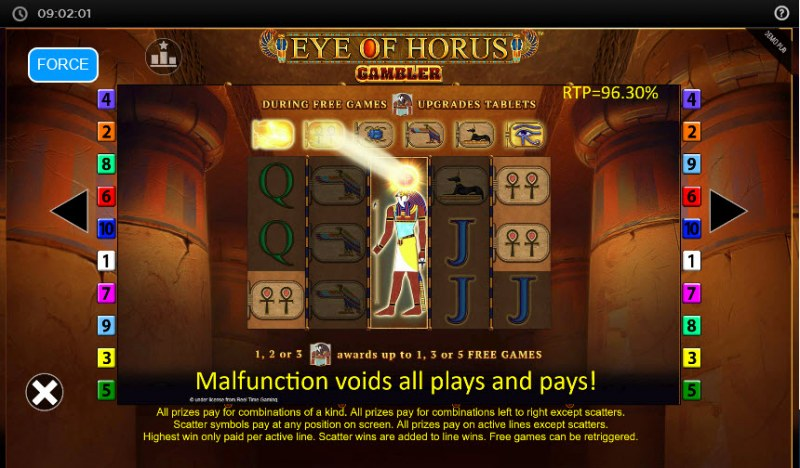 Eye of Horus Gambler :: Symbol Upgrades