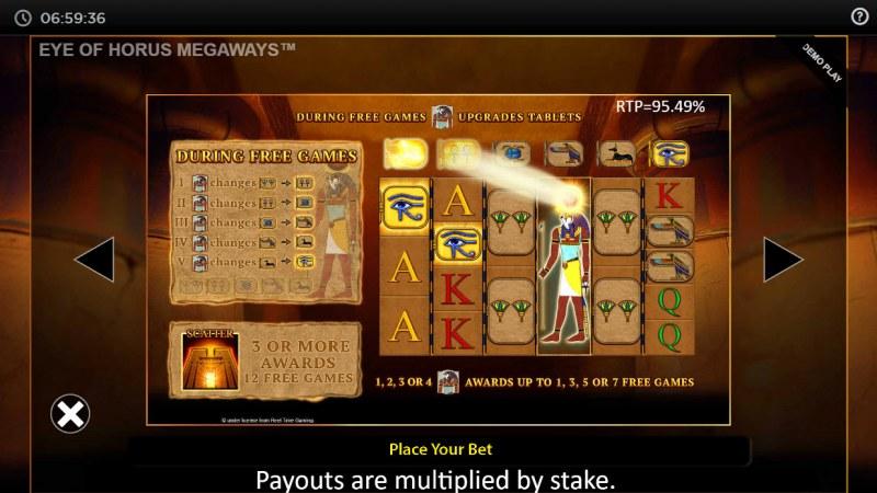 Eye of Horus Megaways :: Feature Rules