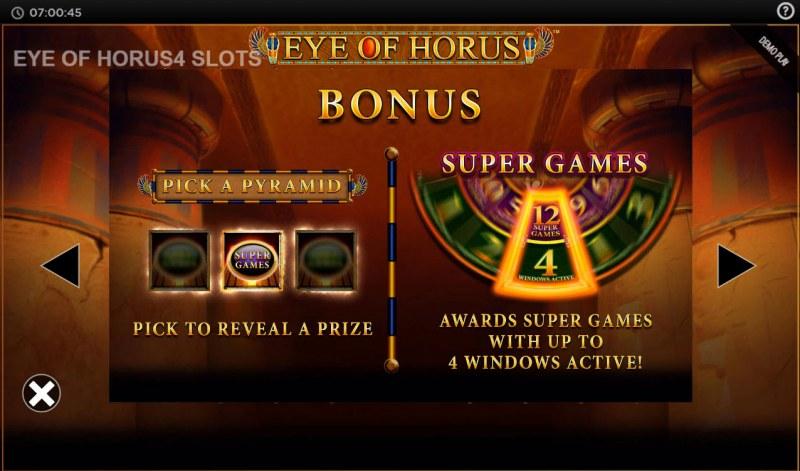 Eye of Horus Power 4 Slots :: Bonus Feature