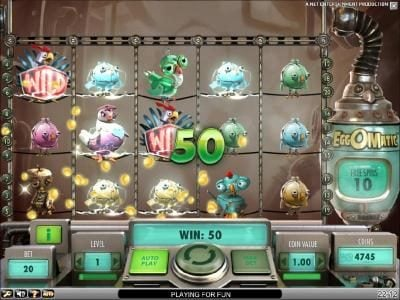 50 coinjackpot triggered by a couple of wild symbols in addition to ten free spins