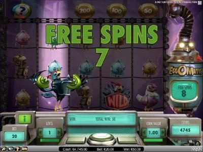 free spins can be re-triggered during bonus feature