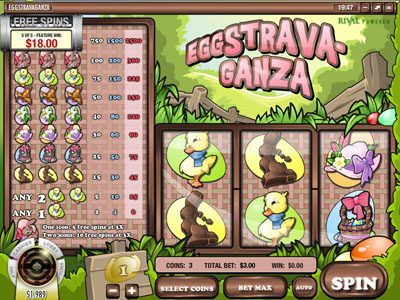Royal Planet featuring the Video Slots Eggstrava-Ganza with a maximum payout of $75,000
