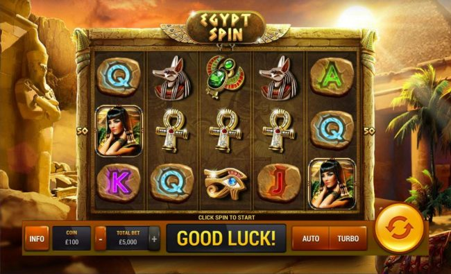 Play slots at Carnival: Carnival featuring the Video Slots Egypt Spin with a maximum payout of $100,000
