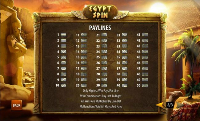 Grand Wild featuring the Video Slots Egypt Spin with a maximum payout of $100,000