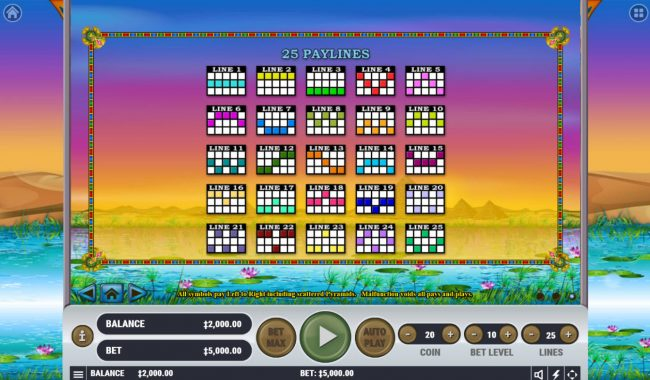 Rich Casino featuring the Video Slots Egyptian Dreams with a maximum payout of $2,000,000
