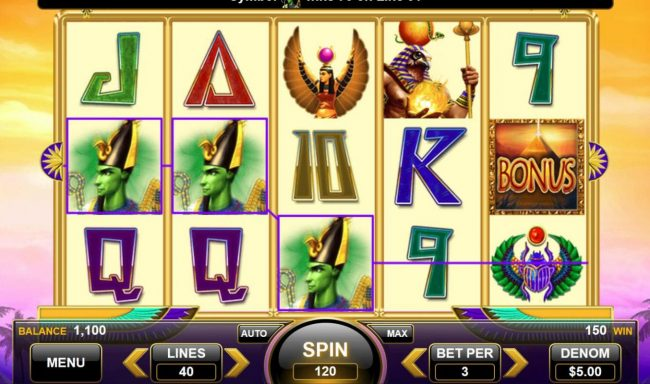Egyptian Gods :: A winning Three of a Kind.