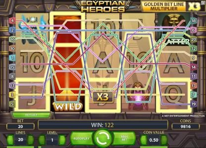 Mr Play featuring the Video Slots Egyptian Heroes with a maximum payout of $20,000