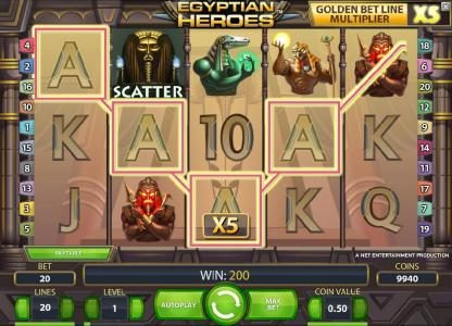 Yeti Casino featuring the Video Slots Egyptian Heroes with a maximum payout of $20,000