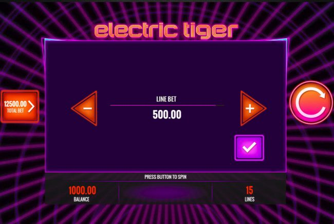 Play slots at Wicked Jackpots: Wicked Jackpots featuring the Video Slots Electric Tiger with a maximum payout of $25,000,000