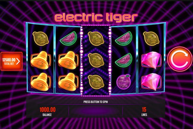 Caesars featuring the Video Slots Electric Tiger with a maximum payout of $25,000,000