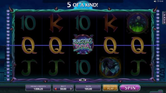 Quatro featuring the Video Slots Electric Diva with a maximum payout of $560,000