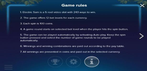 Electric SAM :: General Game Rules