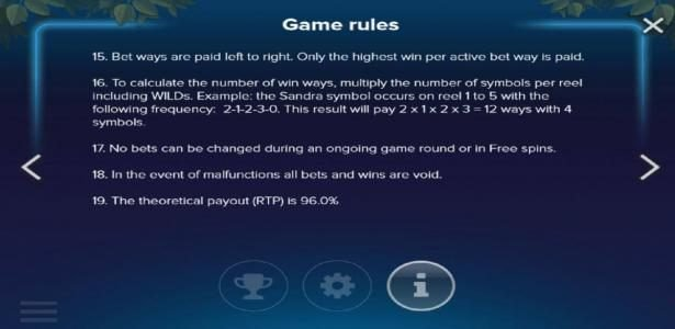 Electric SAM :: General Game Rules - The theoretical payout (RTP) is 96.0%