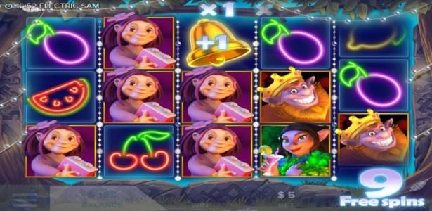 Electric SAM :: Free Spins Game Board