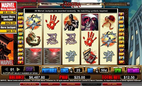 Queen Vegas featuring the video-Slots Elektra with a maximum payout of 5,000x