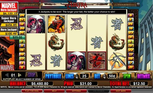 Wild Jackpots featuring the video-Slots Elektra with a maximum payout of 5,000x