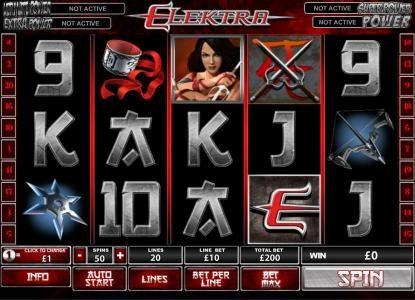 Slots Heaven featuring the Video Slots Elektra with a maximum payout of $250,000