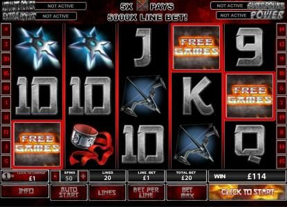 Supercasino featuring the Video Slots Elektra with a maximum payout of $250,000