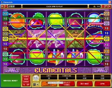 Spinrider featuring the Video Slots Elementals with a maximum payout of $25,000